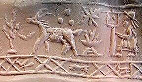 Sceau-cylindre Syrie 1800-1600 av.J.C.