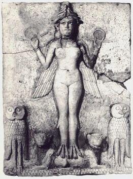 Lilitu d'origine summérien de la collection du Collonel Norman Colville