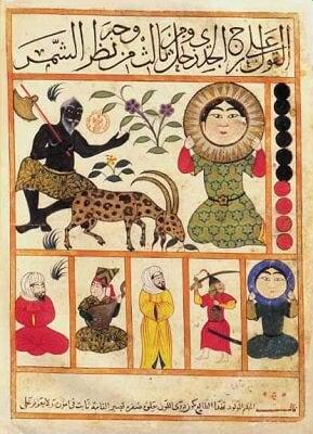 Le Capricorne du Livre des nativités de Albumasr (787-886) 15ème siècle