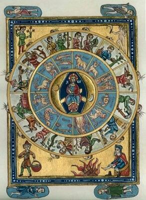 Zodiaque , saisons et travaux des jours XIIIème siècle