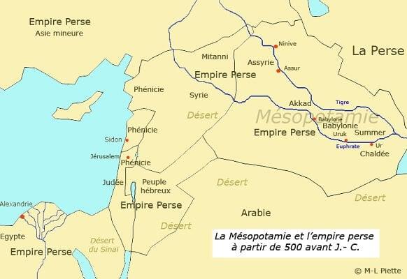 Les peuples d'orient à partir de 500 av J.-C.